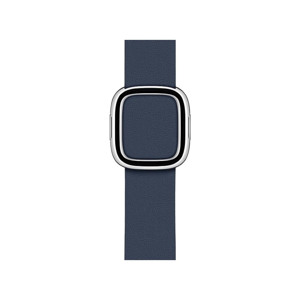 Tweedekans Apple Watch 38/40 mm Modern Leren Horlogeband Diepzeeblauw - Small