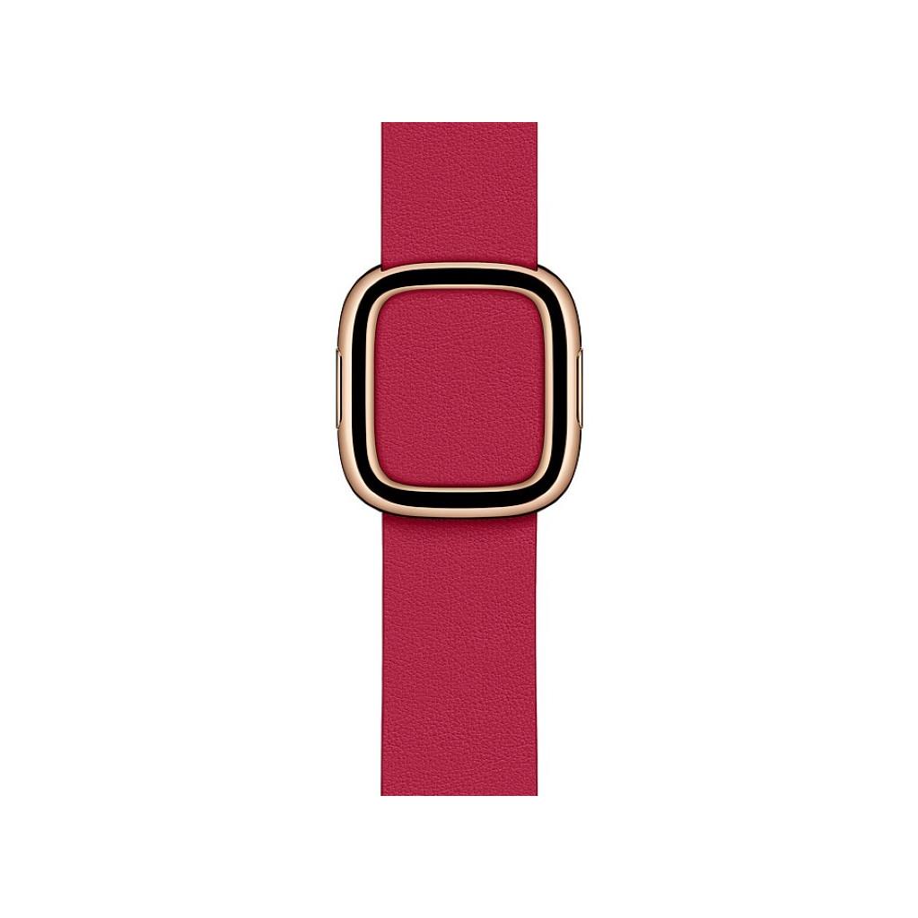 Tweedekans Apple Watch 38/40 mm Modern Leren Horlogeband Framboos - Medium