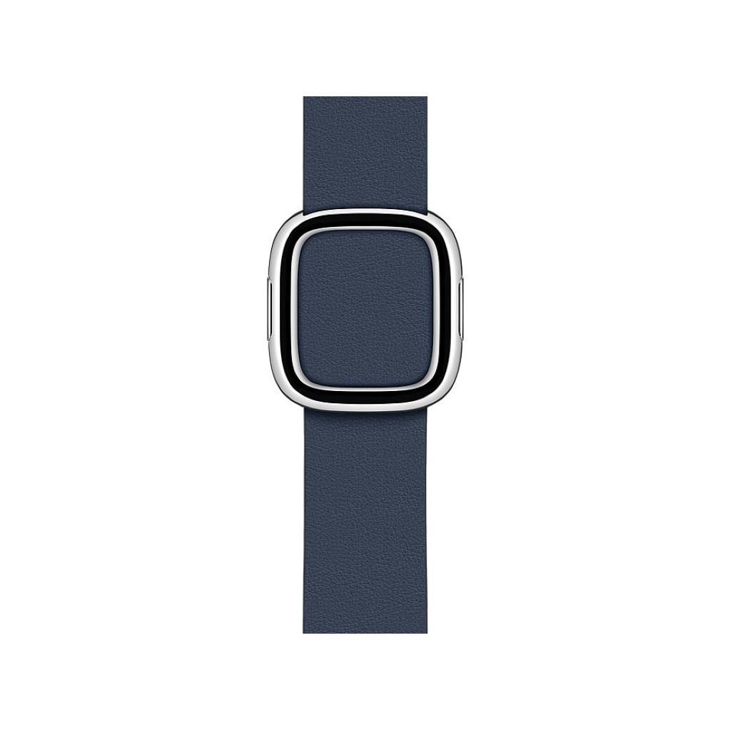 Tweedekans Apple Watch 38/40 mm Modern Leren Horlogeband Diepzeeblauw - Medium