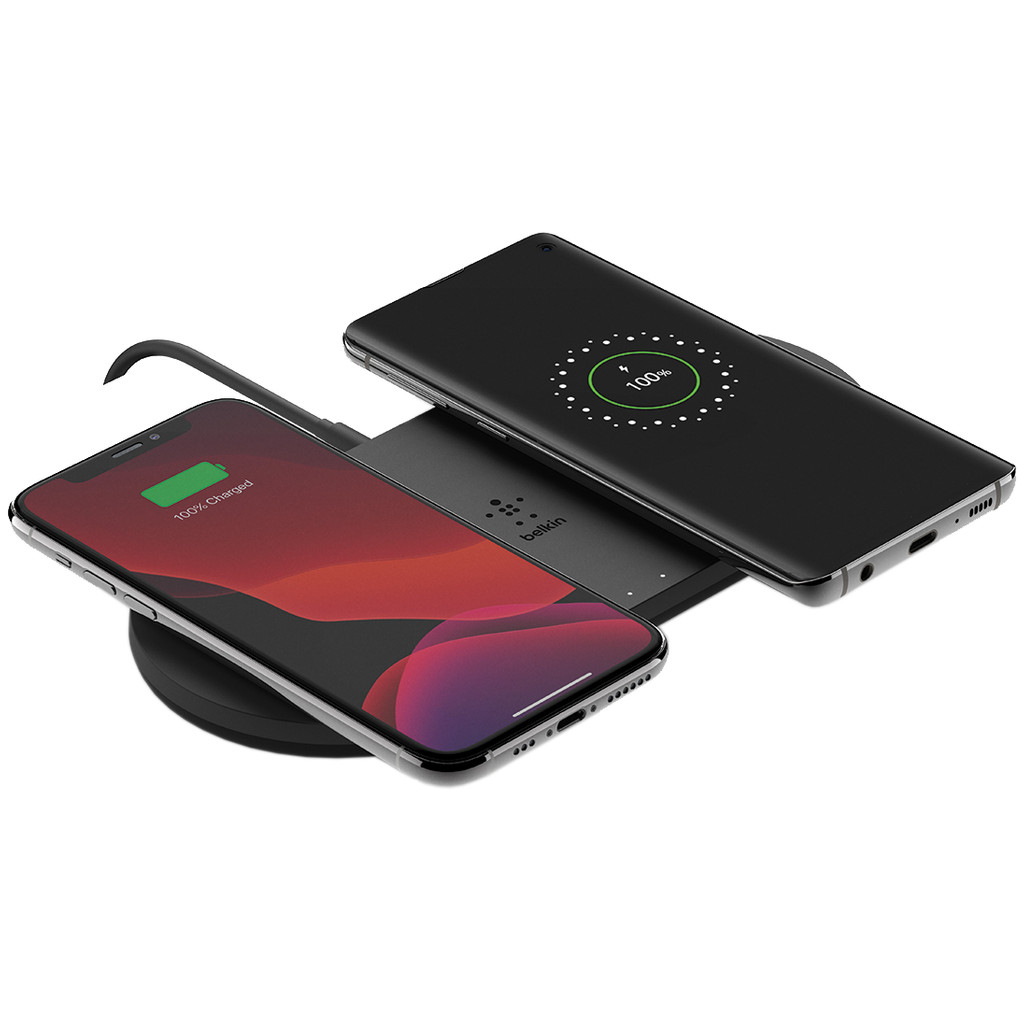 BELKIN Dual Wireless Charging Pad 10 Watt met PSU Zwart