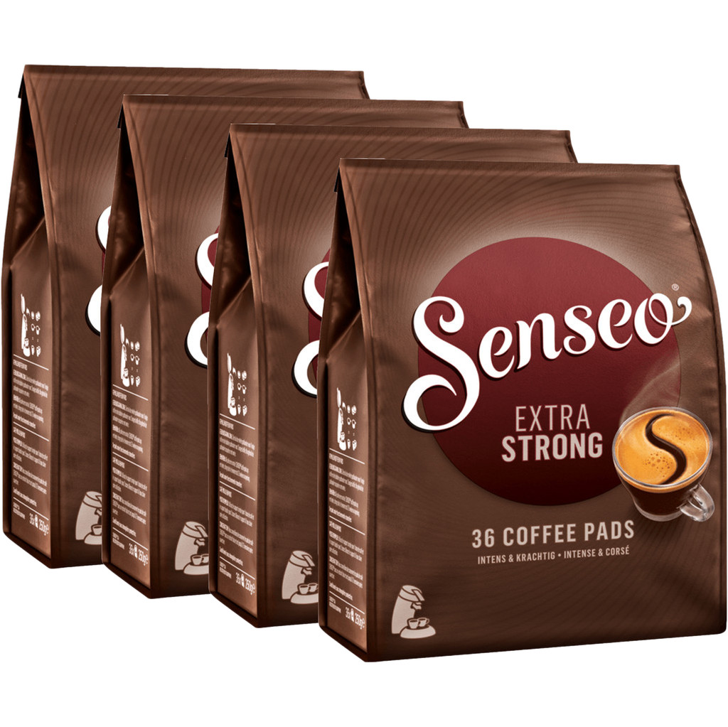 Douwe Egberts senseo extra strong 4 pack Nu voor 19.99 euro!