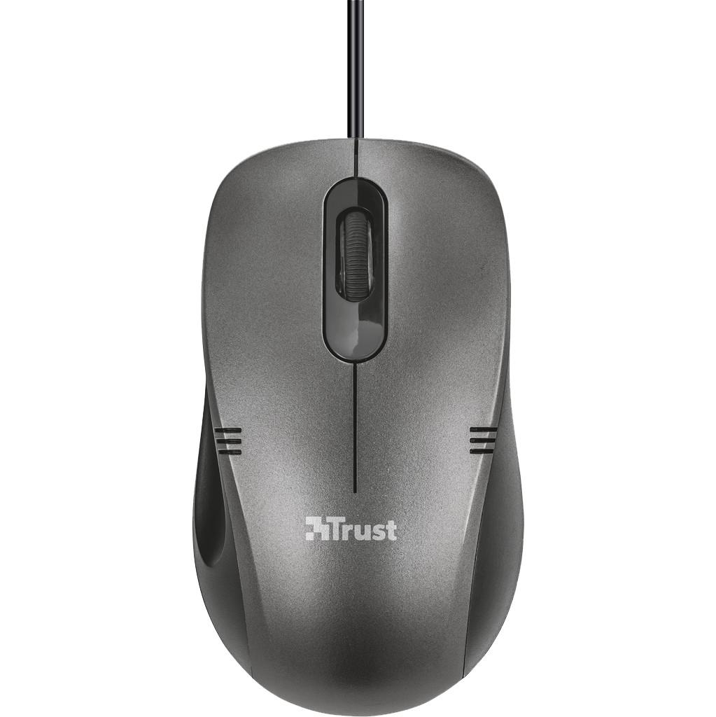 Trust Ivero Compacte muis Zwart
