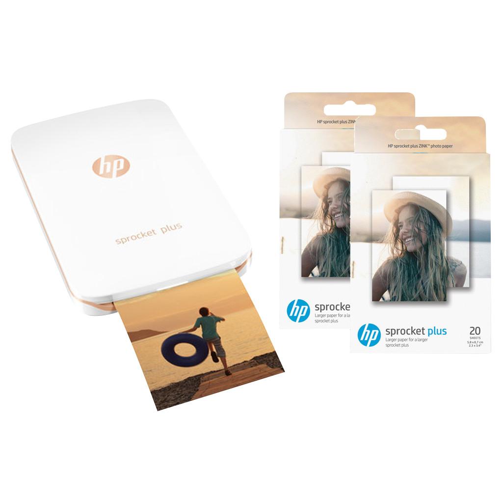HP Sprocket Plus Wit + fotopapier