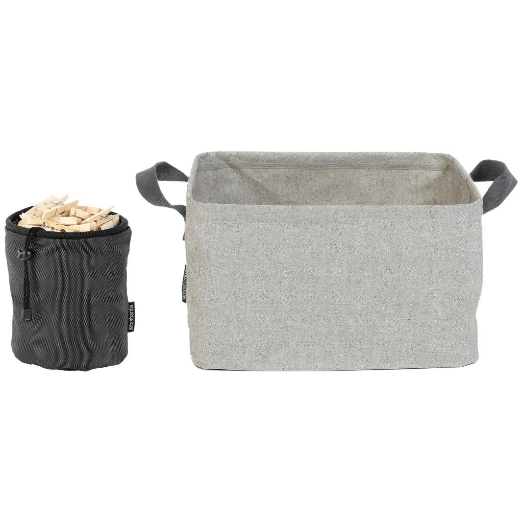 Brabantia Wasmand Opvouwbaar 35 liter + Wasknijpertasje