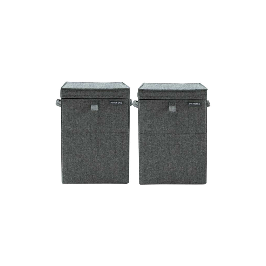 Brabantia wasboxen 35 liter: Duo Pack Pepper Black