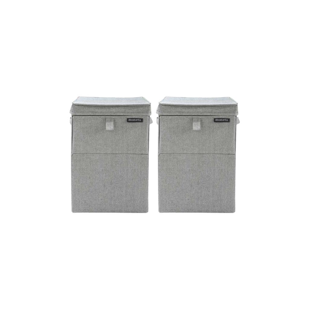 Brabantia wasboxen 35 liter: Duo Pack Grey