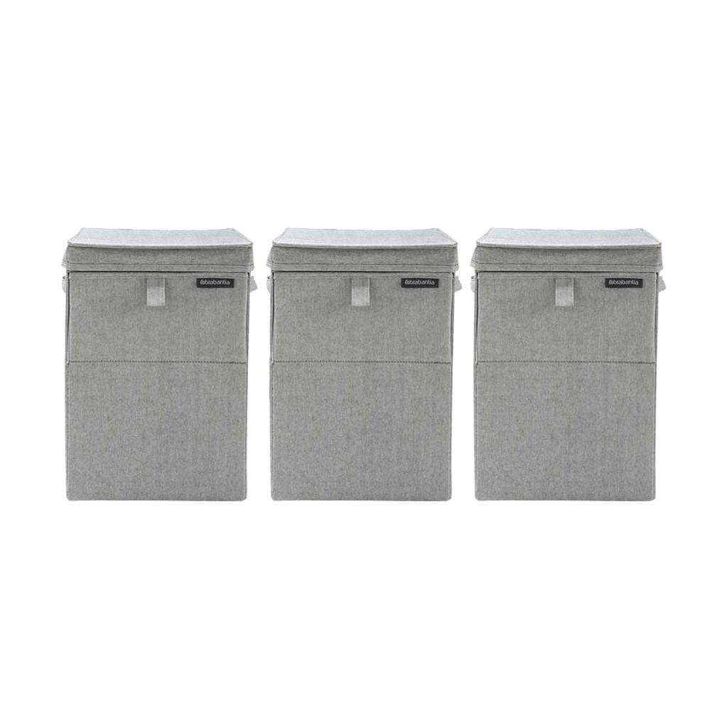Brabantia wasboxen 35 liter: Triple Pack Grey