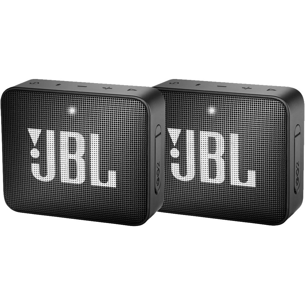 Afbeelding van de JBL Go 2 Duo Pack Zwart
