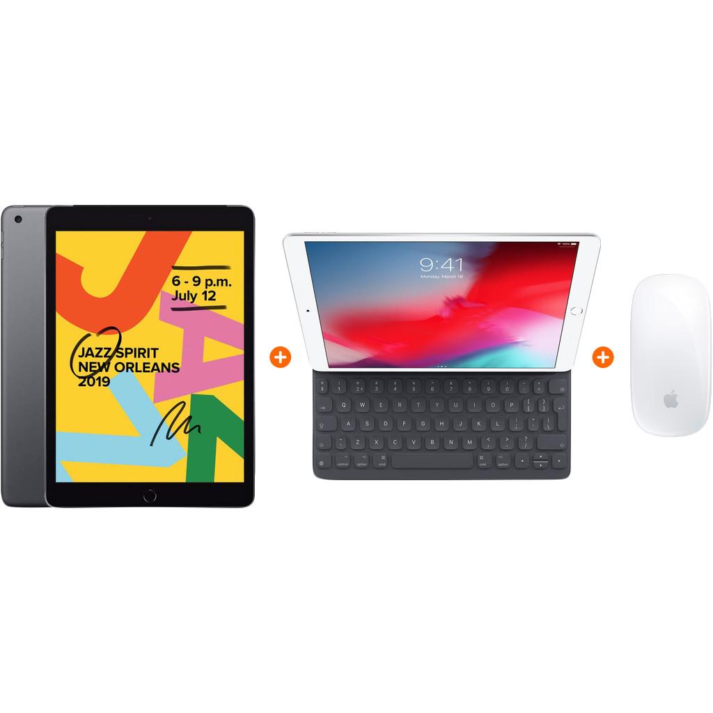 Apple iPad (2019) 32 GB Wifi Space Gray + Smart Keyboard + Magic Mouse