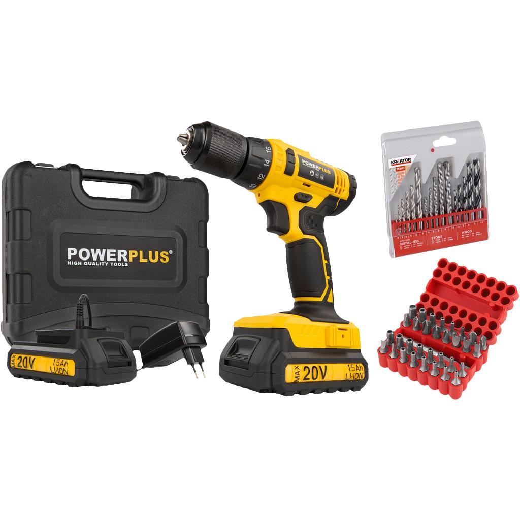 Powerplus POWX00435 + 16-delige borenset en 33-delige bitset
