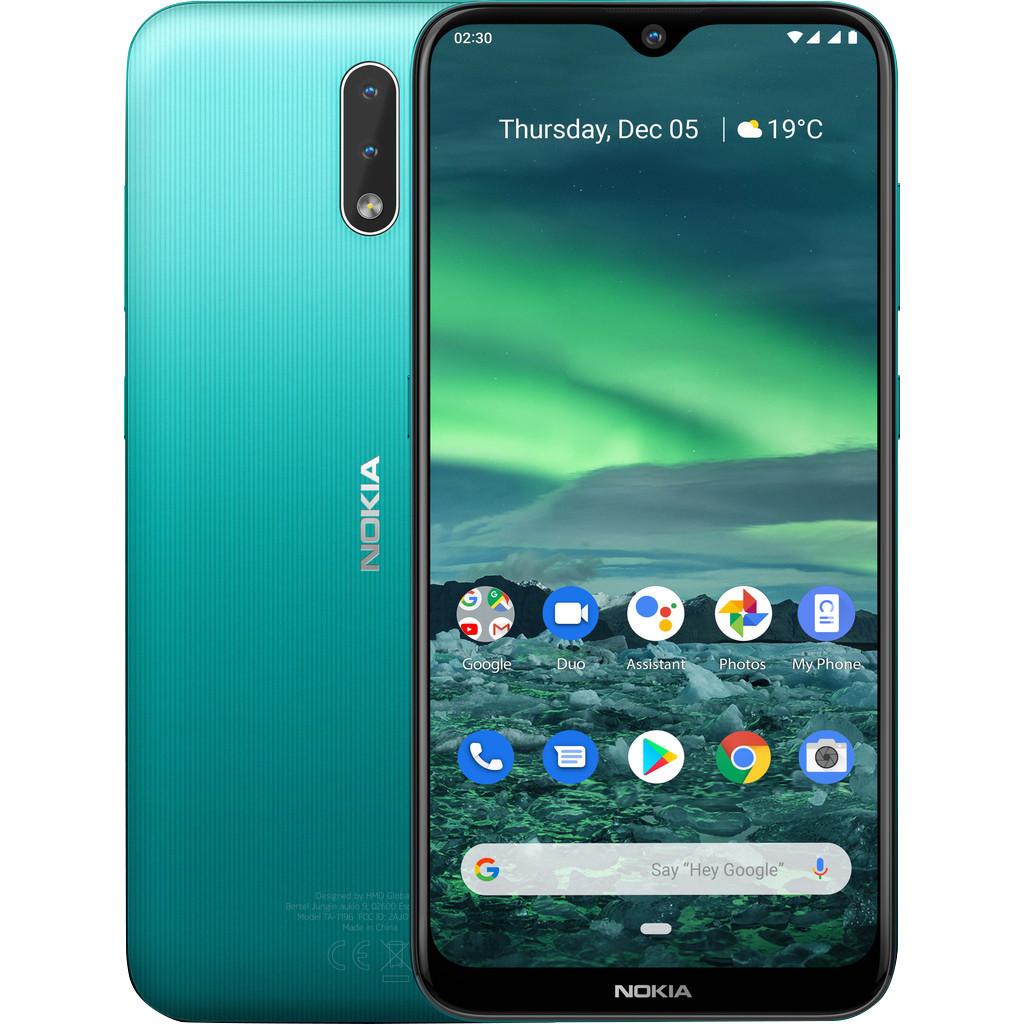 Nokia 2.3 Cyan Green LTE Dual-SIM smartphone 32 GB 6.2 inch (15.7 cm) Dual-SIM Android 9.0 13 Mpix C