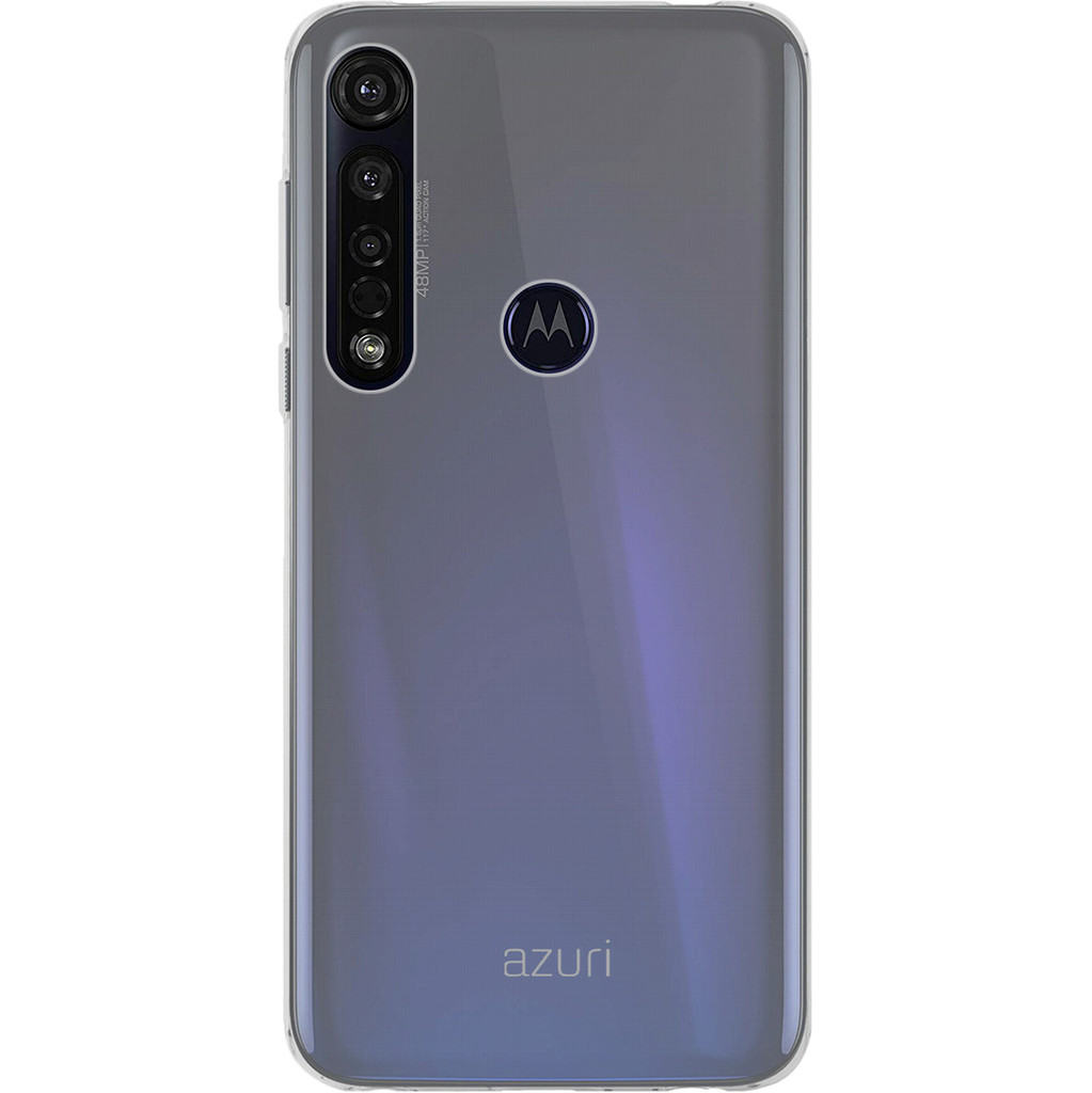 Azuri TPU Motorola Moto G8 Plus Back Cover Transparant