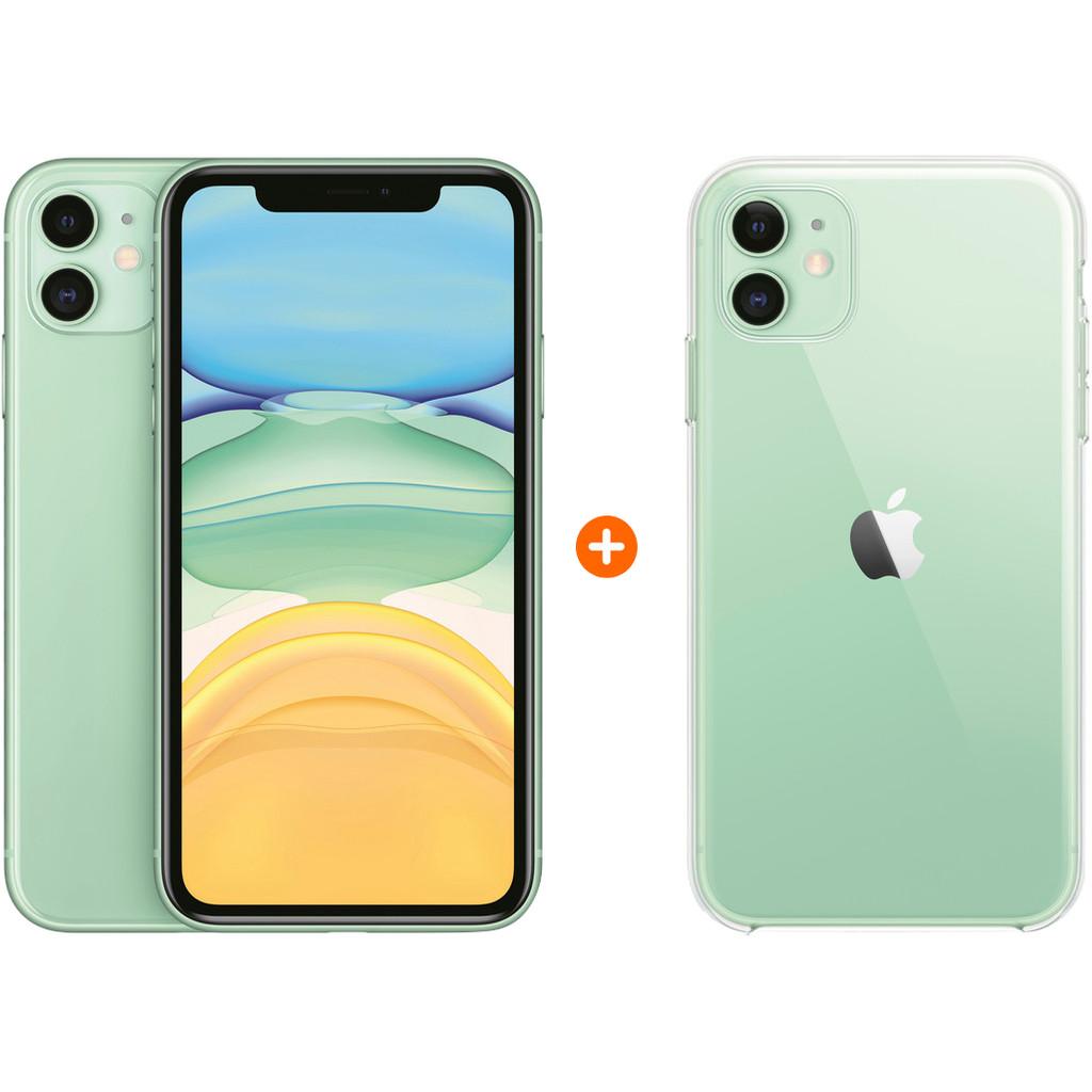 Apple iPhone 11 128 GB Groen Apple iPhone 11 Clear Case