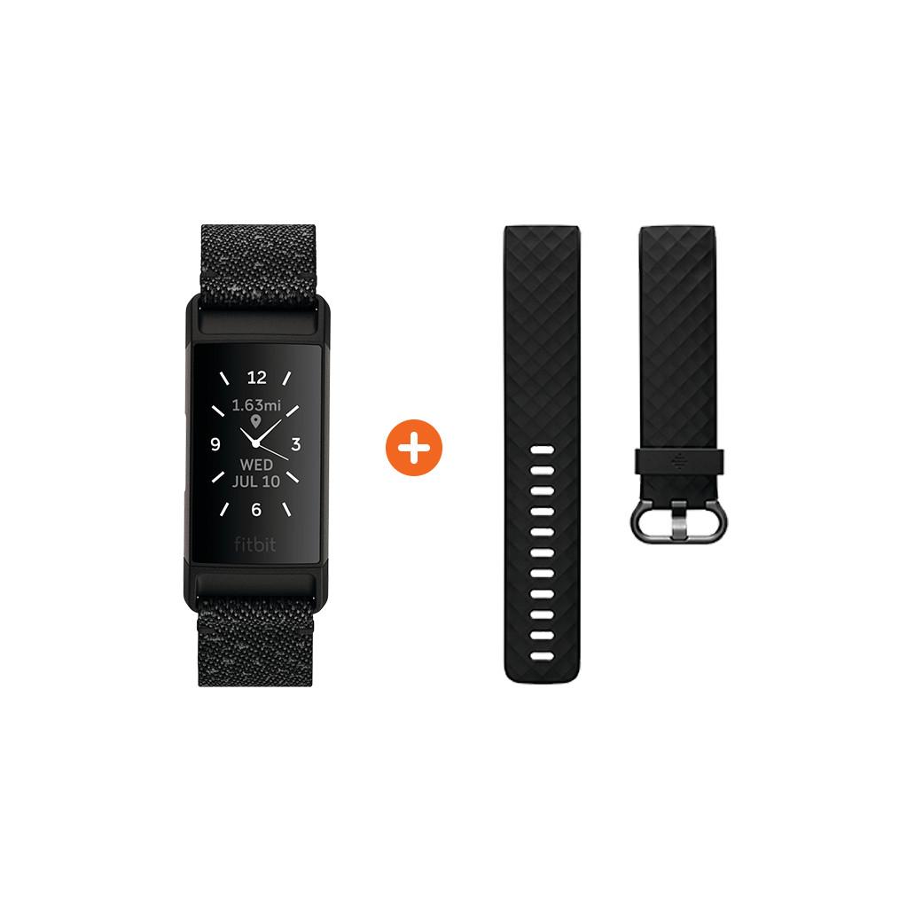 Fitbit Charge 4 Speciale Editie Graniet + Extra Kunststof Bandje