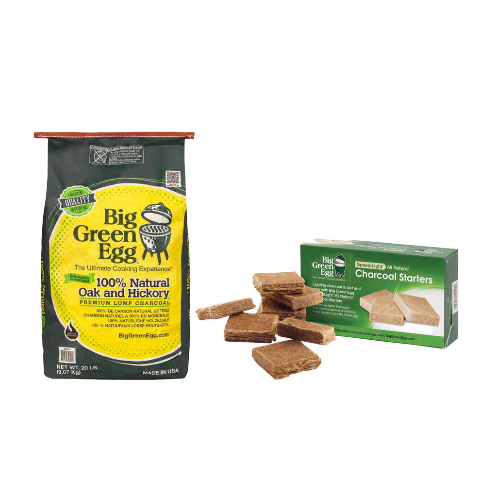 Big Green Egg Premium Houtskool 9 kg + Aanmaakblokjes