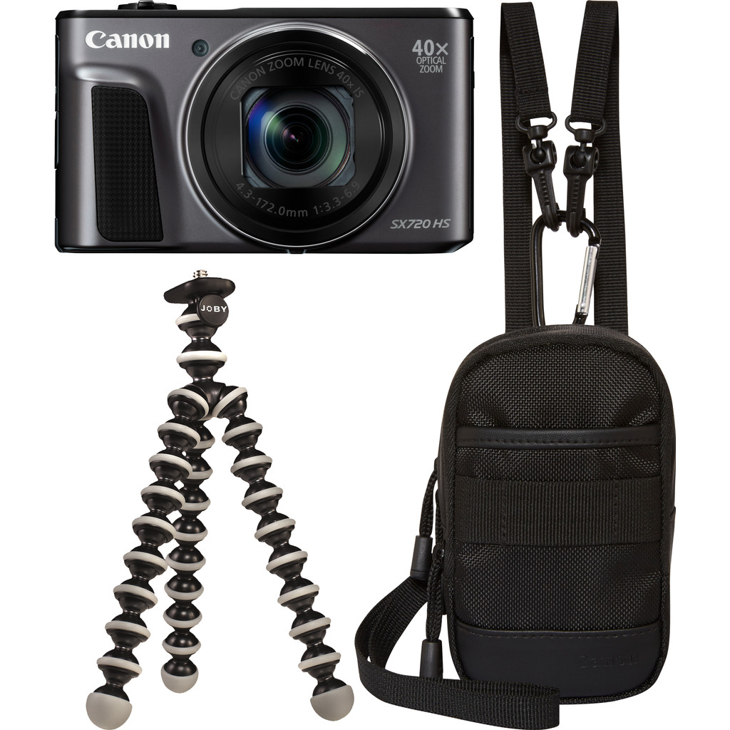 Canon PowerShot SX720 HS compact camera Zwart Travel Kit
