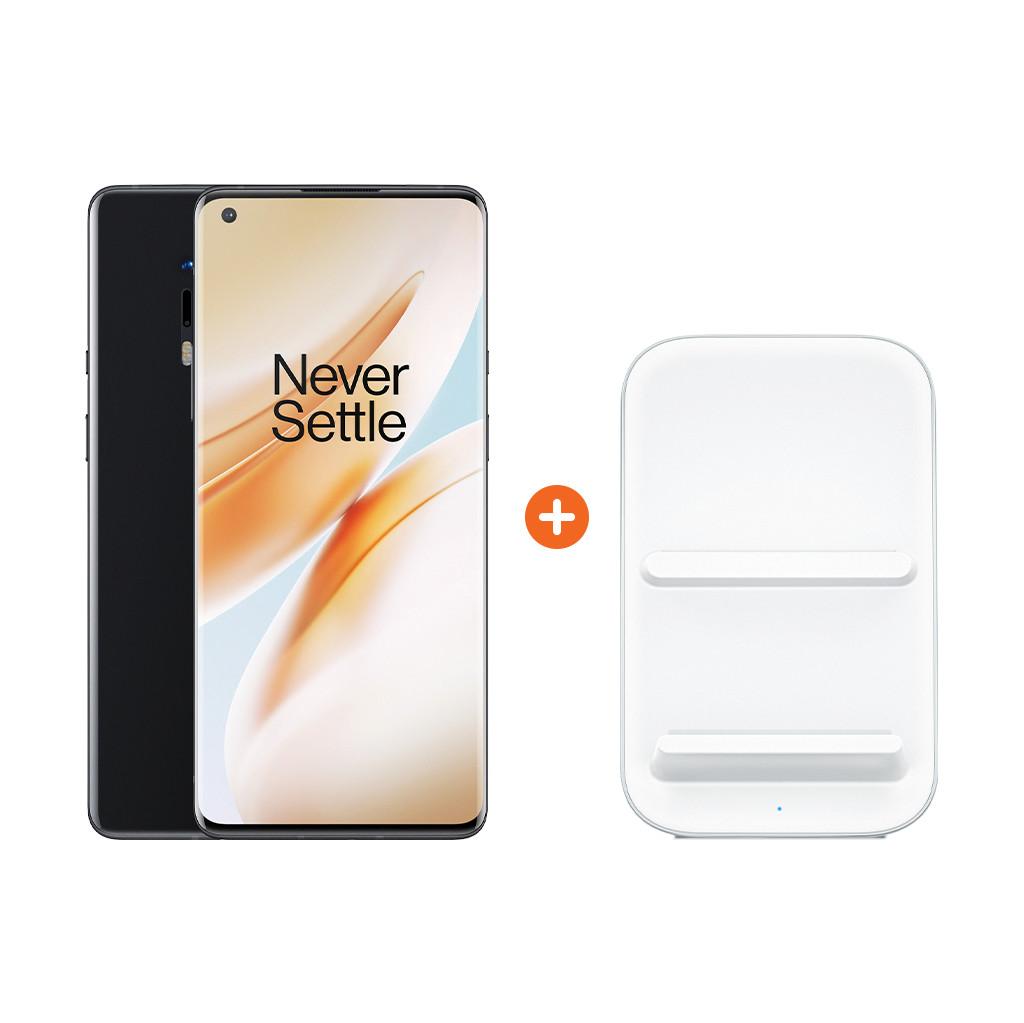 OnePlus 8 Pro 128GB Zwart 5G + OnePlus Draadloze Oplader 30W-128 GB opslagcapaciteit  6,78 inch quad hd scherm  Android 10