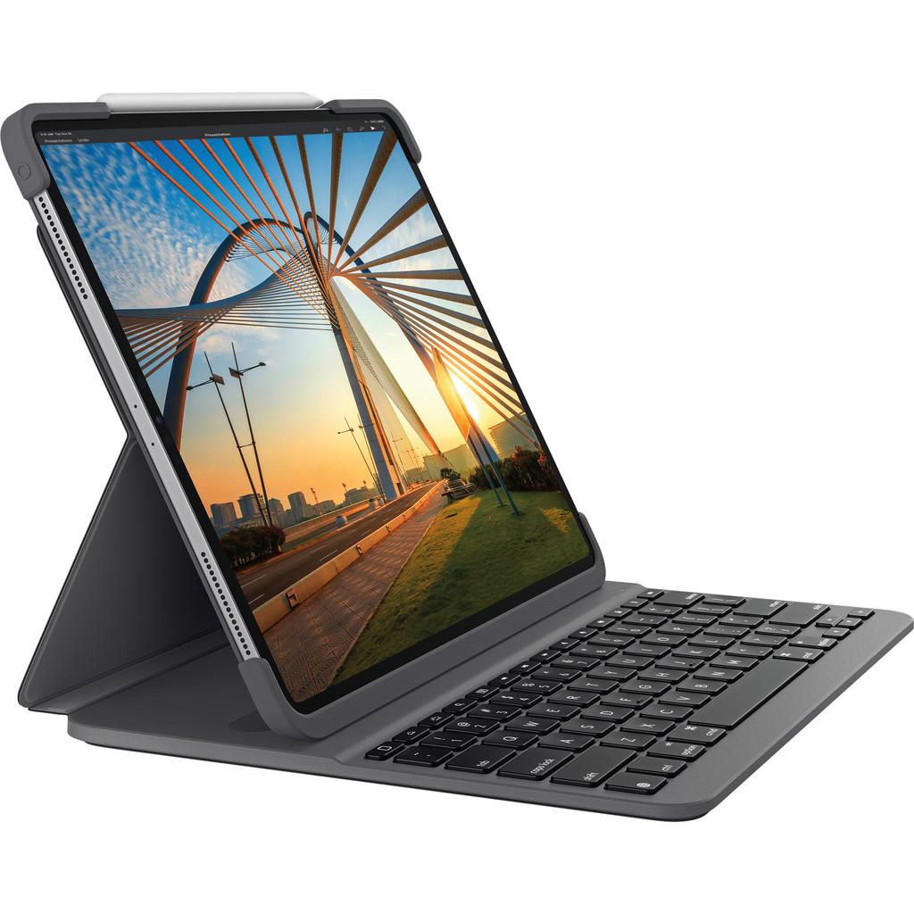 Tweedekans Logitech Slim Folio Pro Apple iPad Pro 11 inch Toetsenbord Hoes QWERTY Grijs