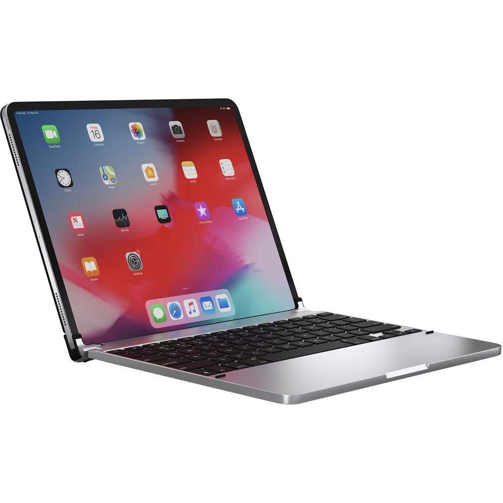 Tweedekans Brydge Apple iPad Pro 12,9 inch (2020/2018) Bluetooth Toetsenbord Hoes Zilver