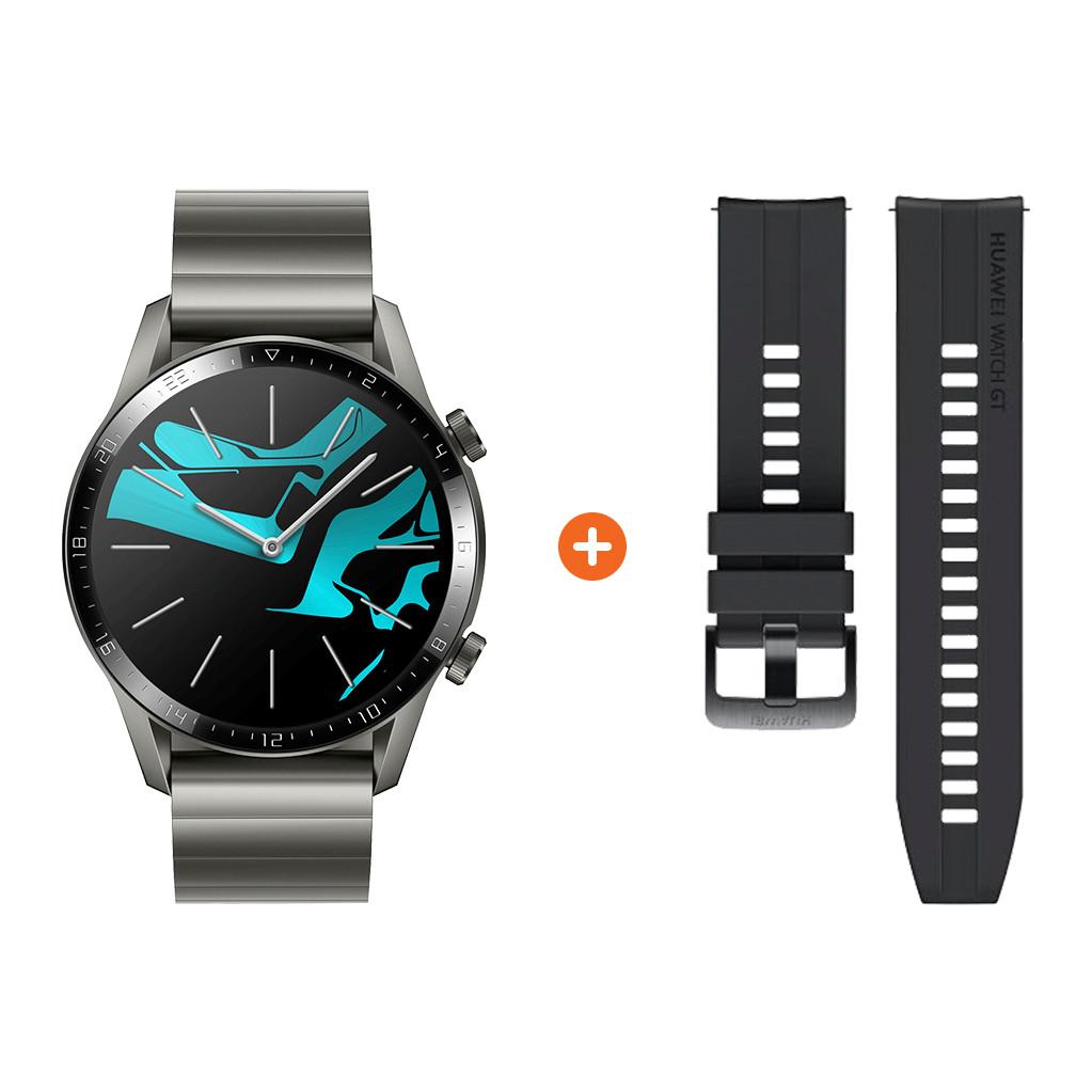 Tweedekans Huawei Watch GT 2 RVS Grijs 46mm
