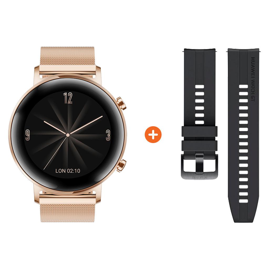 Tweedekans Huawei Watch GT 2 RVS Rose goud 42mm