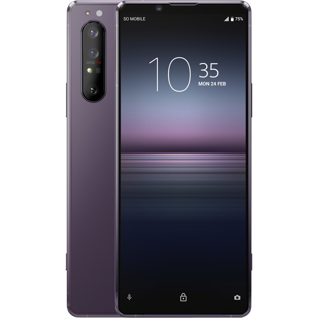 Sony Xperia 1 II 256GB Paars 5G-256 GB opslagcapaciteit  6,5 inch 4K scherm  Android 10