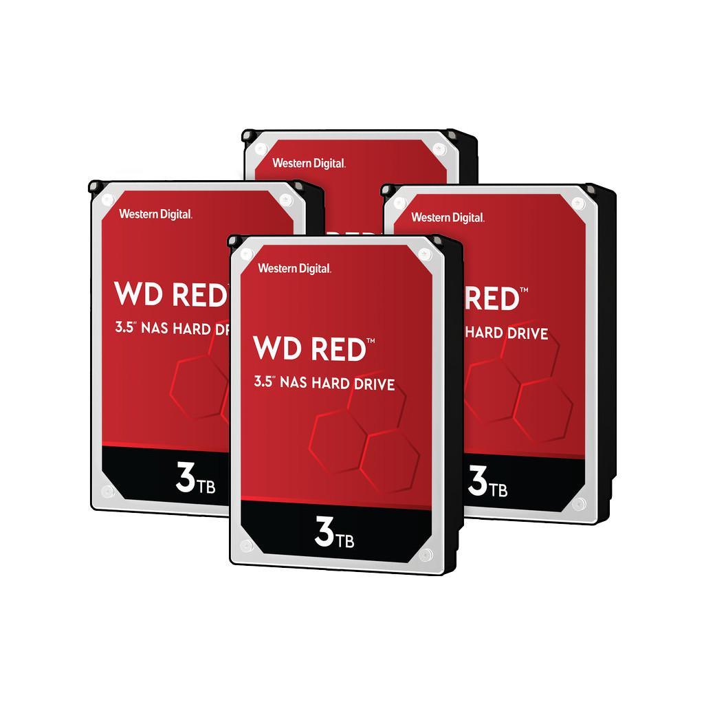 Western Digital wd red wd30efax 3tb 4 pack raid 0, 1, 5, 6 of 10