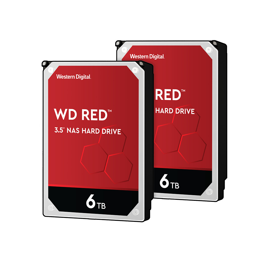 Western Digital wd red wd60efax 6tb duo pack raid 0 of 1
