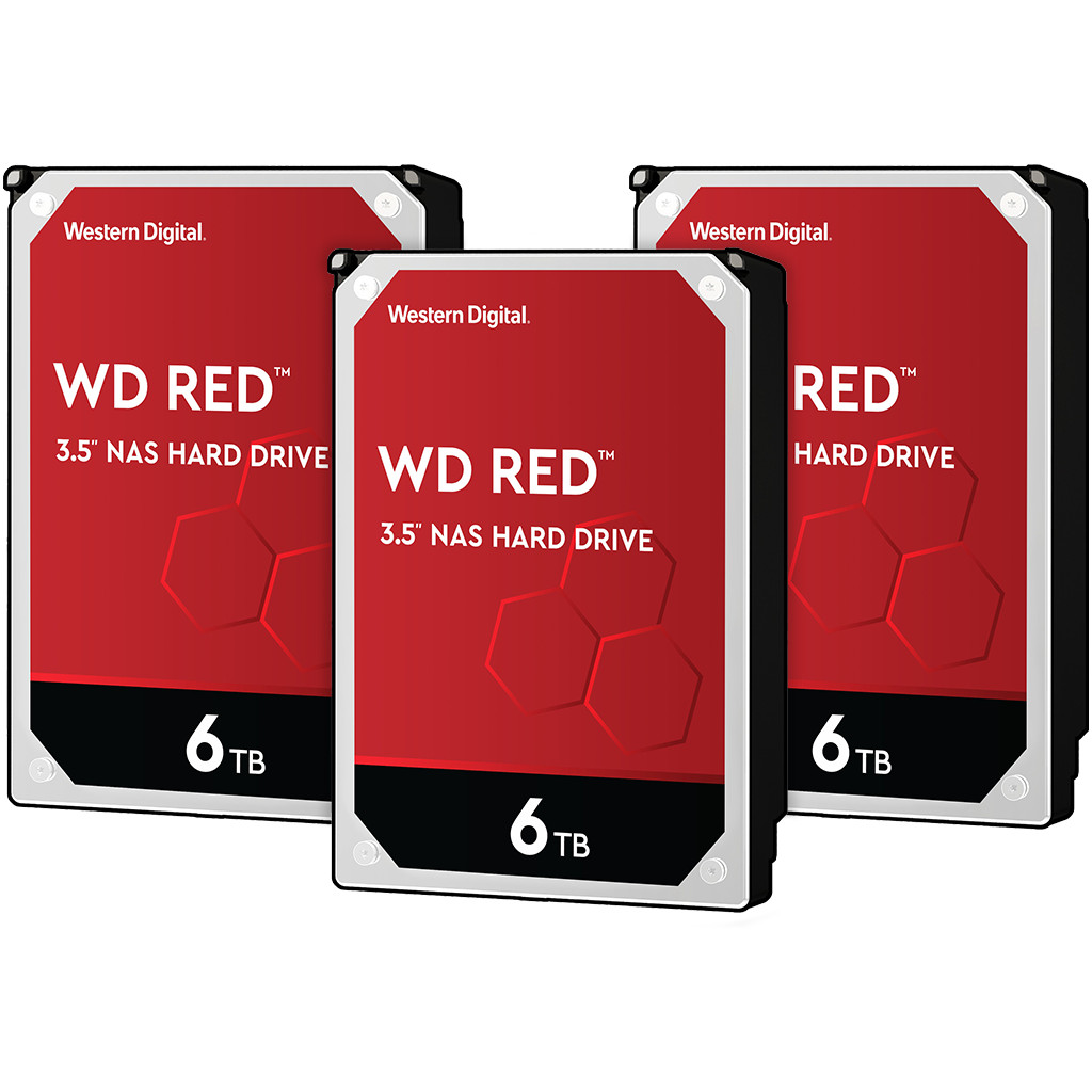 WD Red WD60EFAX 6TB 3-pack - RAID 0, 1 of 5