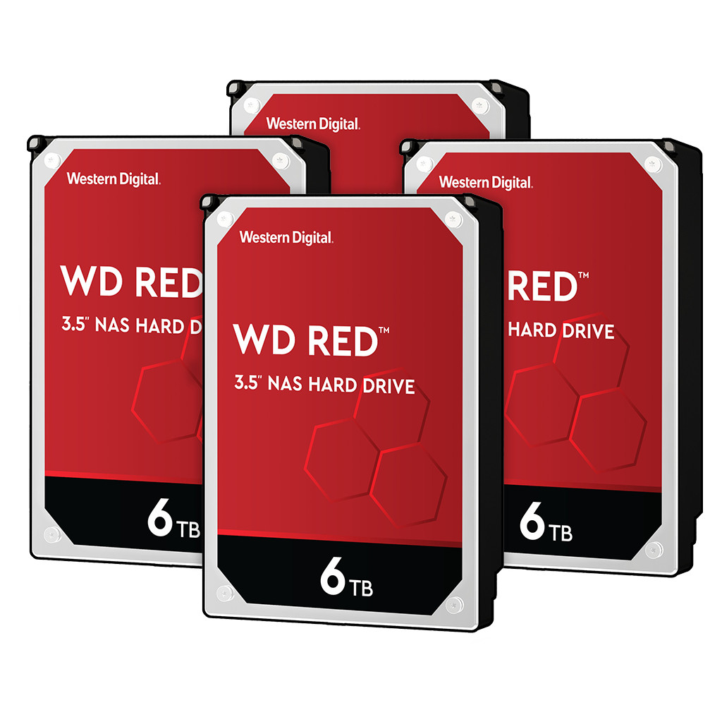WD Red WD60EFAX 6TB 4-pack - RAID 0, 1, 5, 6 of 10 kopen