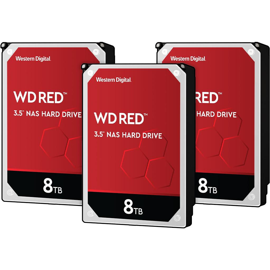 Western Digital wd red wd80efax 8tb 3 pack raid 0, 1 of 5