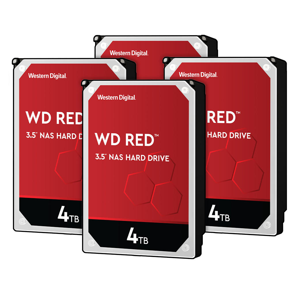 Western Digital wd red wd40efax 4tb 4 pack raid 0, 1, 5, 6 of 10