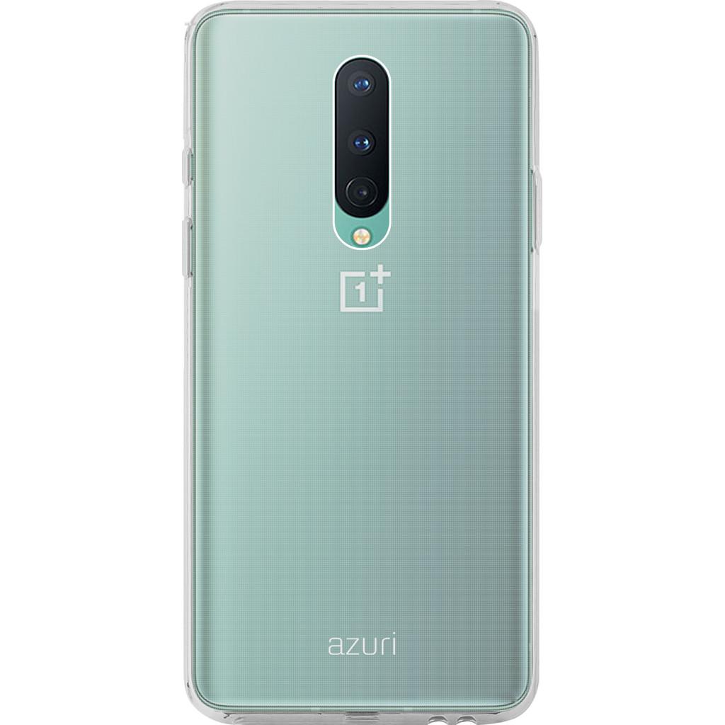 Azuri TPU OnePlus 8 Back Cover Transparant