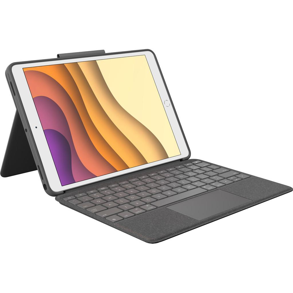 Tweedekans Logitech Combo Touch Apple iPad Air (2019) Toetsenbord Hoes QWERTY