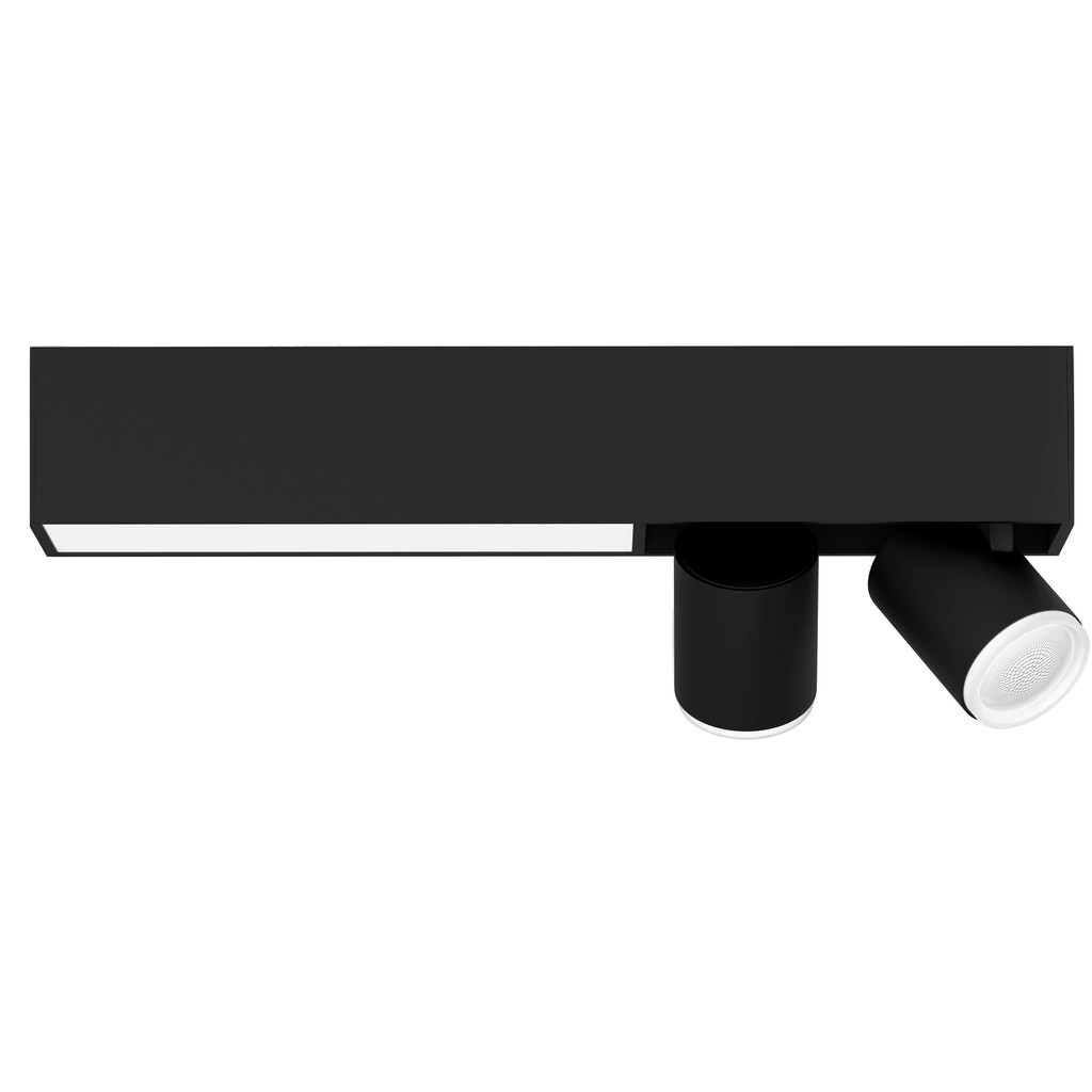 Philips Hue Centris opbouwspot White & Color 2-lichts Zwart - rechthoekig