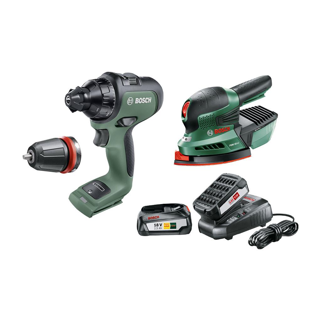 Bosch AdvancedDrill 18V + Bosch PSM 18 LI + Bosch 18V 2,5 Ah