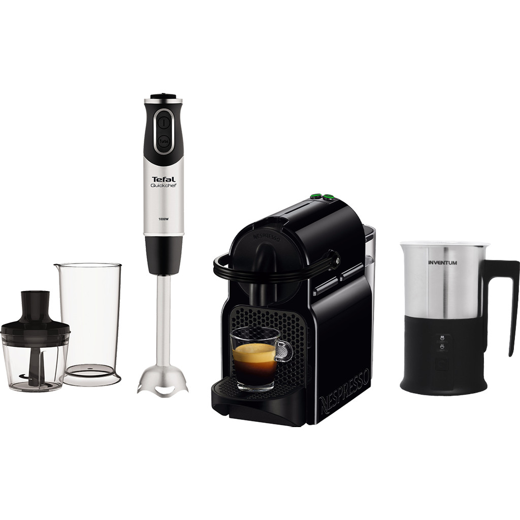 Magimix Nespresso Inissia M105 + Melkopschuimer + Staafmixer