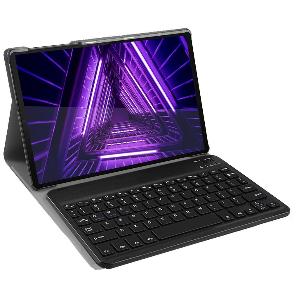 Tweedekans Just in Case Lenovo Tab M10 Plus Premium Toetsenbord Hoes Zwart QWERTY