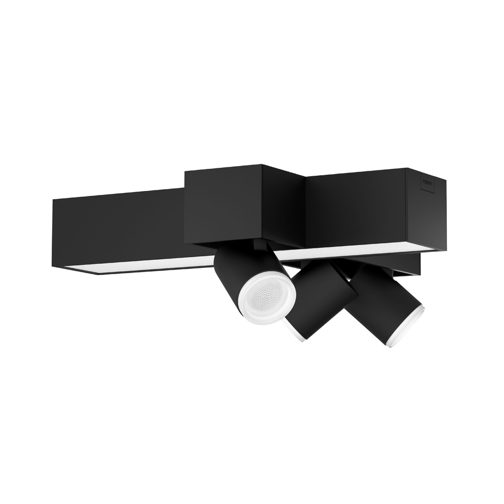Philips Hue Centris opbouwspot White & Color 3-lichts Zwart - kruisvorm