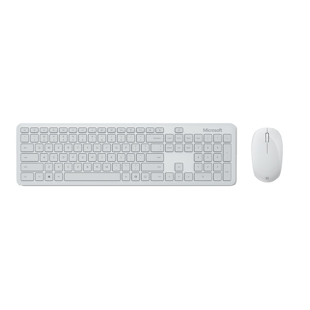 Tweedekans Microsoft Bluetooth Desktop Toetsenbord en Muis Wit QWERTY
