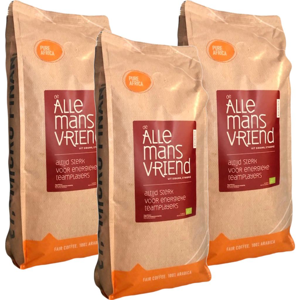 Pure Africa De Allemandsvriend biologische koffiebonen 3 kg