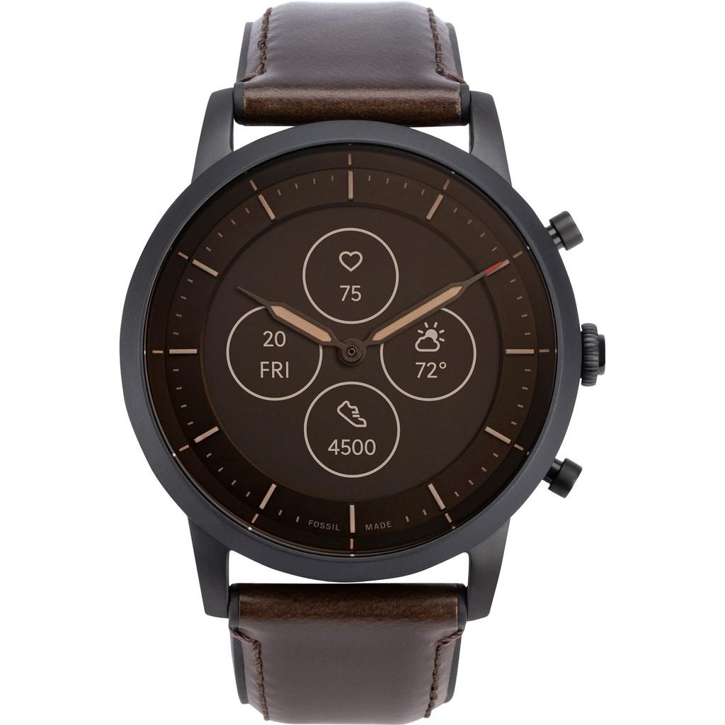 Tweedekans Fossil Collider Hybrid HR Smartwatch FTW7008 Bruin