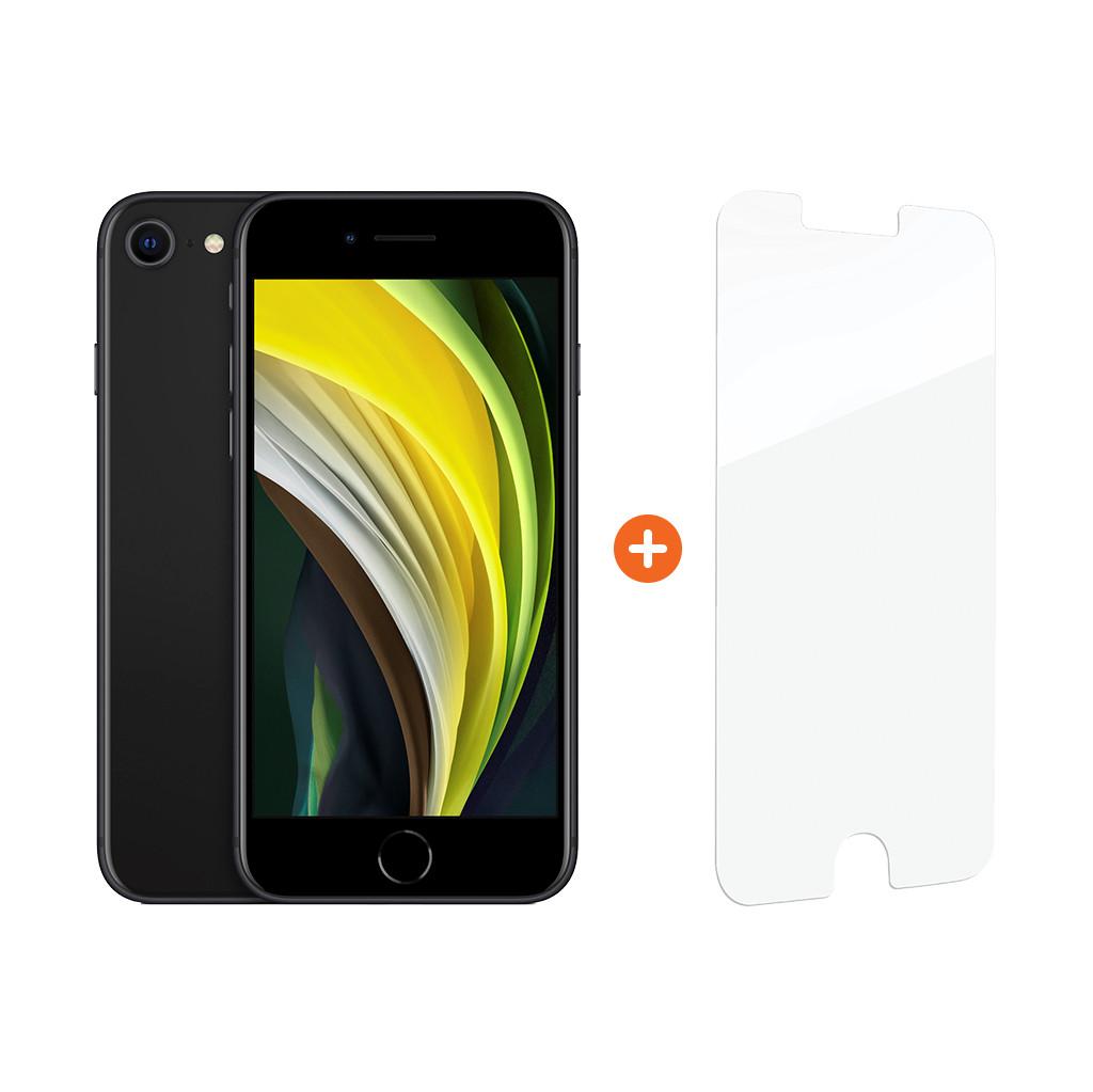 Apple iPhone SE 128 GB Zwart + InvisibleShield Glass Elite+ Screenprotector-128 GB opslagcapaciteit  4,7 inch LCD scherm  iOS 13