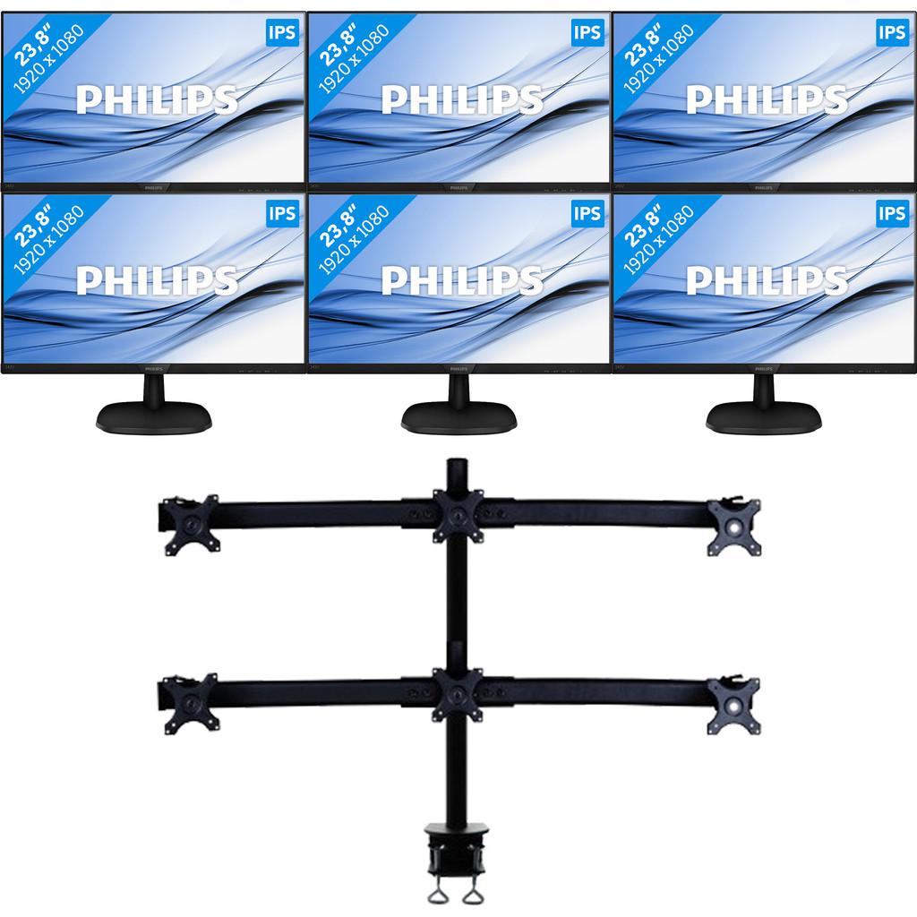 Philips 6 monitoren set up