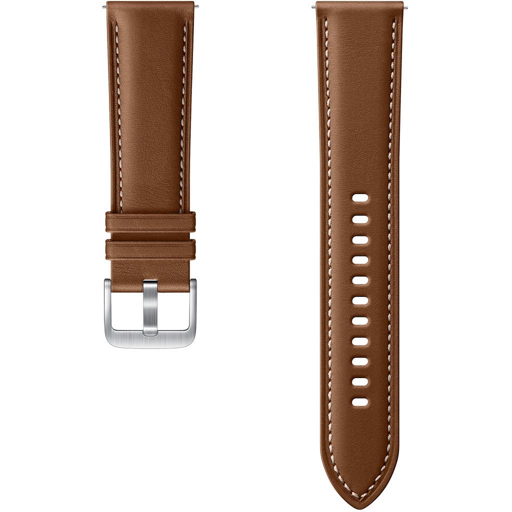 Tweedekans Samsung Galaxy Watch3 45 mm Leren Bandje Bruin 22 mm