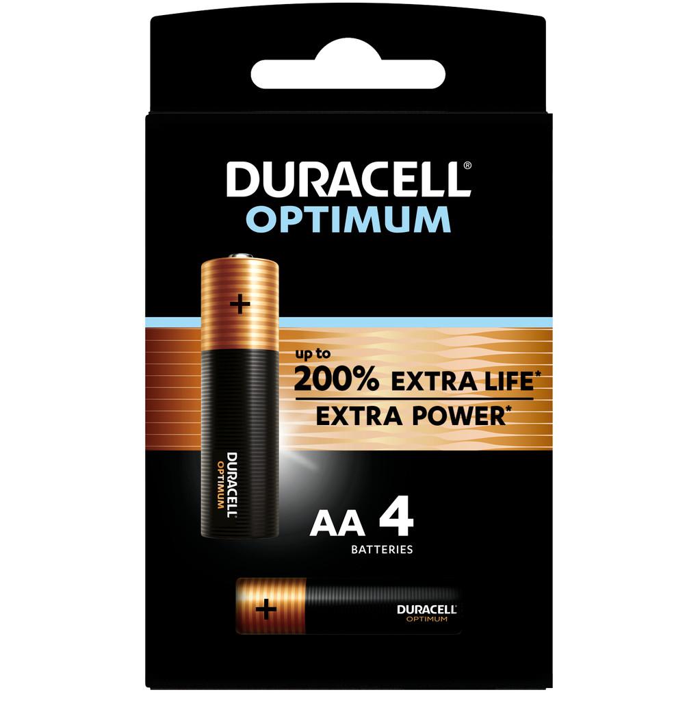 Duracell Alka Optimum AA-batterijen 4 stuks