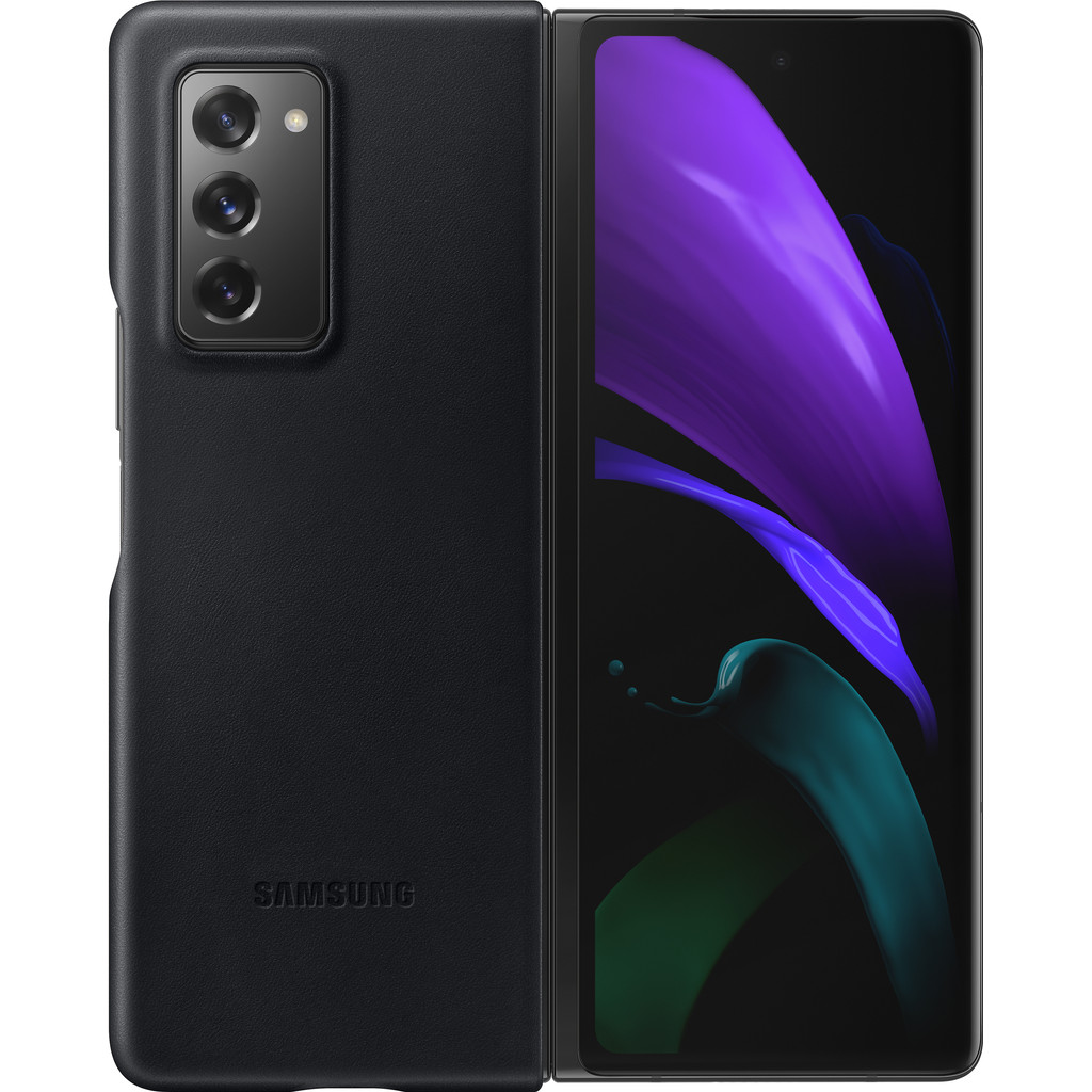 Tweedekans Samsung Galaxy Z Fold2 Back Cover Leer Zwart