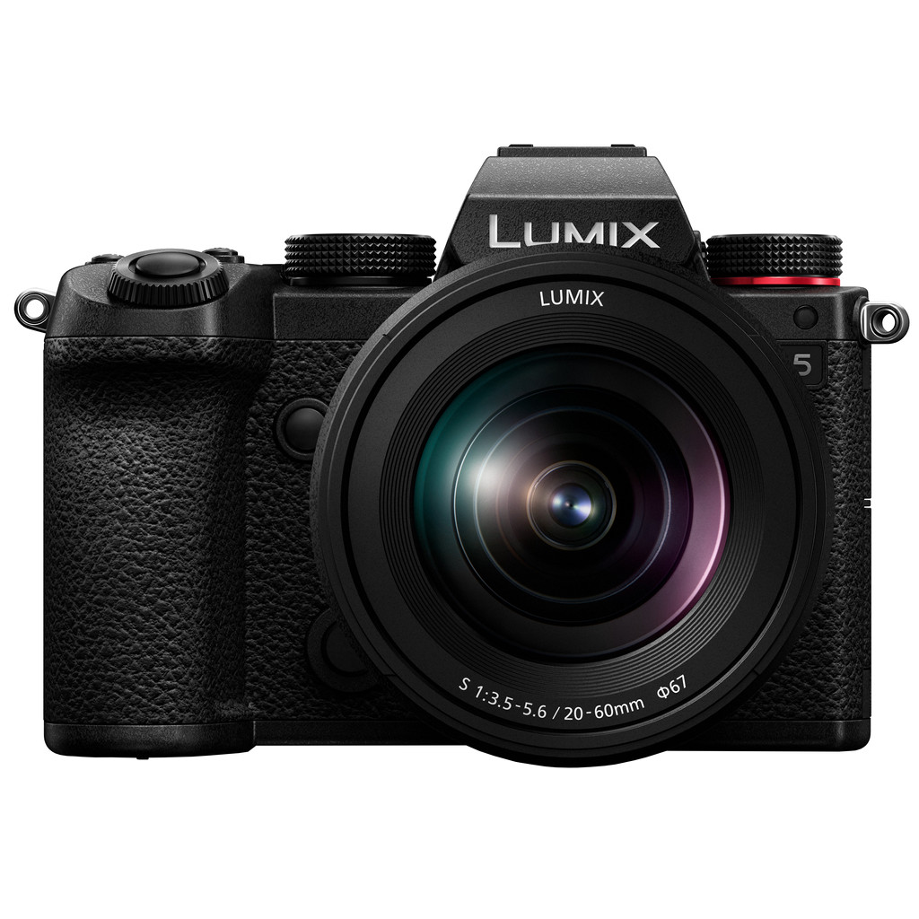Panasonic Lumix DC-S5 Body + Lumix S 20-60mm f/3.5-5.6-Full frame CMOS sensor  24,2 megapixels  Inclusief 20-60mm lens