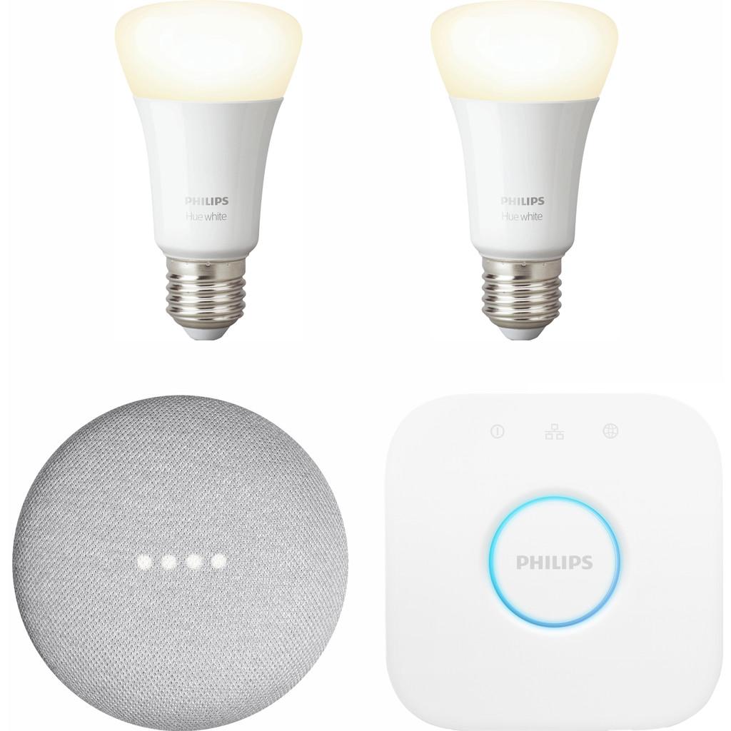Google Nest Mini Philips Hue White Starter Duo Pack
