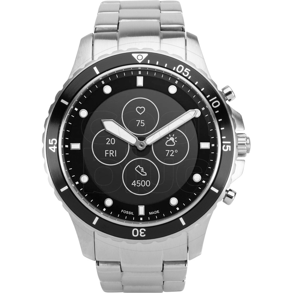 Tweedekans Fossil FB-01 Hybrid HR Smartwatch FTW7016 Zilver
